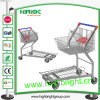 Warehouse Trolley Cart with Collapsible Basket