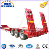 Tri Axle 50 Ton Tyre Exposed Low Loader Truck Trailer