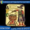 Custom Cartoon Image Metal Badge Pin with Shinny Gold Plated