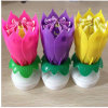 Musical Spinning Rotating Lotus Flower Candle