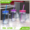20oz Double Wall Plastic Mason Jar with Straw