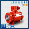 Didtek High Pressure Forged Metal Seated Trunnion Ball Valve With Worm Gear