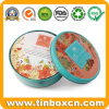Customized Round Sweets Candy Metal Tin Can for Gift Box