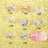 100PCS Nail Art Decoration 3D Metal Alloy Jewelry Colorful Glitter Rhinestone