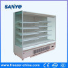 Plug-in Multideck Open Display Dairy Chiller Used in Grocery Store