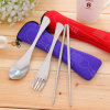 Stainless Steel Portable Cutlery Set with Pouch Bag