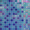 Blue Iridium Glass Mosaic for Wall Tile
