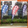 Outdoor Advertising Fiberglass Pole Feather Polyester Flag Teardrop Flag