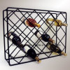 Wire Rectangle Diamond Wine Rack Vintage Metal Wine Rack