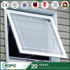 UPVC Profile Frosted Glass Exterior Awning Window