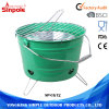 Unique Design Portable Bucket BBQ Charcoal Grill Tool