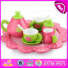 Happy Pink Dreamlike Girls Play Wooden Tea Set Toy, High Quality Children Wooden Afternoon Toy Tea Set W10b134
