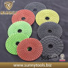 100mm Diamond Wet Floor Polishing Pads for Granite, Grit 50-3000