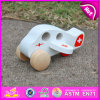 2015 Car Ambulance Vehicle Toys for Kids, Small Wooden Hospital Car Toy for Children, Mini White Wooden Toy Car for Baby W04A143