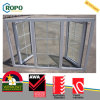 PVC French Casement Window with Grill Design