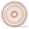 Wholesale Cotton Printing Round Beach Towel Beach Blanket with Top-Quality