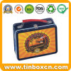 Rectangular Metal Food Container with Handle, Lunch Tin Box