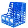 C2115 3 Columns Office Desk Plastic Magazine File Box Organizer