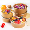 Customized Cheap Disposable Paper Soup Bowl/Dumpling Bowl with Lid