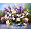 Cheap Latest Modern Flower Oil Painting for Wall Decor