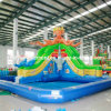 Inflatable Slide with Pool for Kids Park