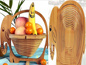 Wood Craft Folding Fruit Basket
