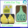 Laser Number Printing Sheep Cattle Ear Tag for Animal Management
