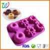 Wholesale Six Cavity Silicone Flower Cupcake Pan