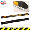 Traffic Safety Supplier Yellow Striped Rubber Car Parking Wheel Stopper