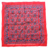China Factory OEM Produce Custom Paisley Red Cotton Bandanna Headwrap