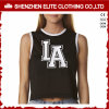 Wholesale Cheap Gym Loose Design Ladies Black Fashion Dance Crop Top (ELTWBJ-34)