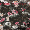 Floral Burn out Satin Fabric. Burn out Opal Fabric with Floral Print