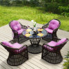 Modern Leisure Outdoor Balcony Garden PE Rattan Furniture