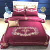 Embroidered Luxury Satin Bedding Cover