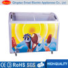 Glass Door Mini Ice Cream Display Freezer