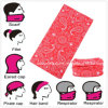 Customized Promotional Polyester Red Paisley Neck Tube Scarf