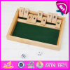 2015 Wooden Shut The Box for Kids, Christmas Gift Wooden Game Shut The Box for Children, Best Sale 1-9 Wooden Shut The Box W01A083