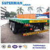 Two Axle 40FT Flatbed Cargo Semi Truck Trailer for Container Use