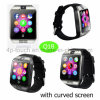2017 Newest/Fashion Wrist Smart Watch Phone with Curved Screen Q18