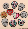 Fashion Reversible Heart Sequin Designs Embroidery Patches Decoration Garment Accessories