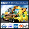 70 T Low Bed Semi Trailer for Bulldozer