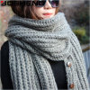 Women's Acrylic Knitted Warm Large Fashion Scarf