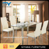 American Style Newest Tempered Glass Dining Table