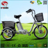 Gift to Parents 250W 3 Wheel Electric Bike Cargo Safe Tricycle