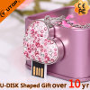 Jewelry Pink Heart-Shaped USB Flash Drive for Lovers Gift (YT-6263)