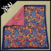 Double Side Silk Handkerchief Custom Print Pocket Square for Men