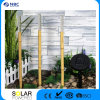 Solar Tiki Torches Lighting 1 Pack Bamboo Flickering Outdoor Lighting Adjustable