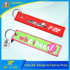 Personalized Customized Cheap Embroidery Woven Key Chain for Promotion/Souvenir