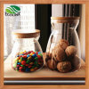 Glass Sealed Storage Jar Sugar Pot with Bamboo Lid