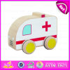 2015 Modern Ambulance Toy Car for Kids, Mini Wooden Toy Ambulance Car for Children, Cartoon Small Wooden Car Toy for Baby W04A108